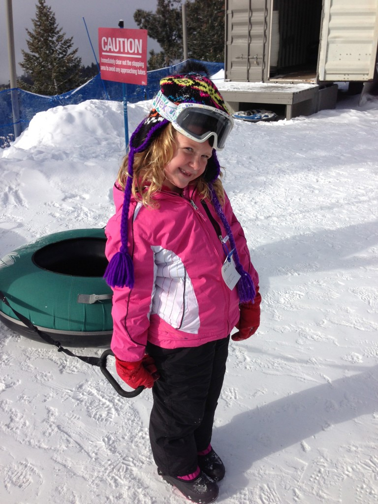 My princess ready is ready to hit the hill.